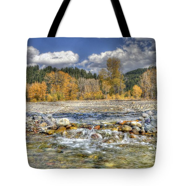 Clear Stream Tote Bag