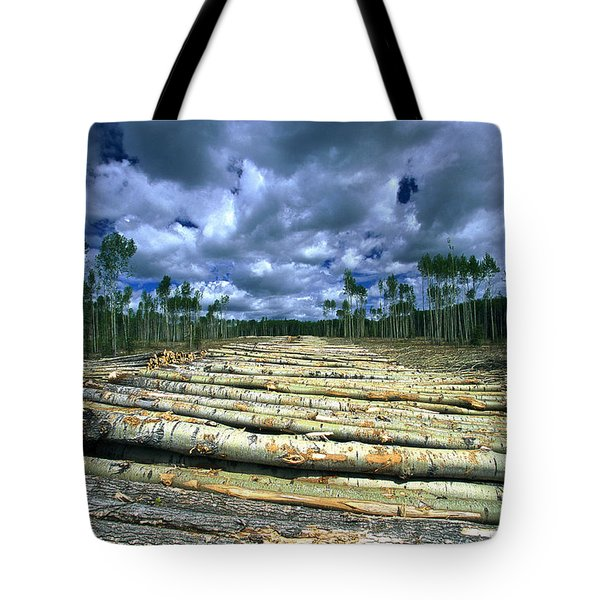 Clearcuts Near The Town Of Cross Lake Tote Bag