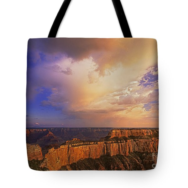 Tote Bag featuring the photograph Clearing Storm Cape Royal North Rim Grand Canyon Np Arizona by Dave Welling