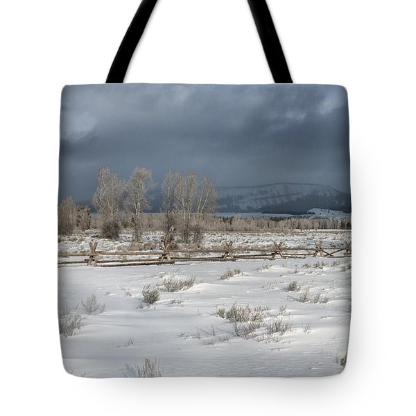 Clearing Storm In The Tetons Tote Bag by Sandra Bronstein