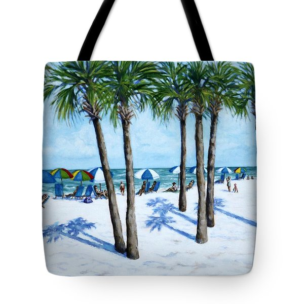Tote Bag featuring the painting Clearwater Beach Morning by Penny Birch-Williams