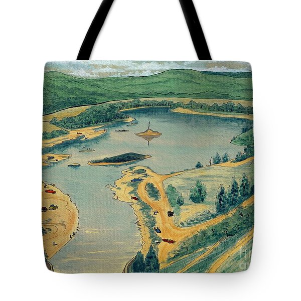 Tote Bag featuring the painting Clearwater Lake Early Days by Kip DeVore