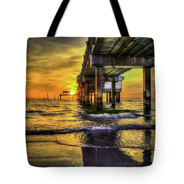 Clearwater Pier Tote Bag by Marvin Spates