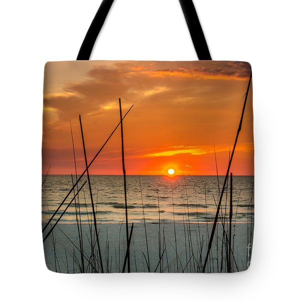 Clearwater Sunset 2 Tote Bag by Mike Ste Marie