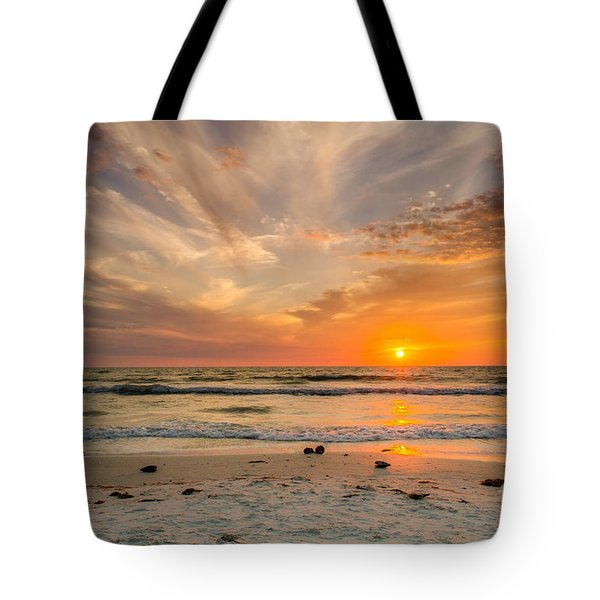Clearwater Sunset Tote Bag by Mike Ste Marie
