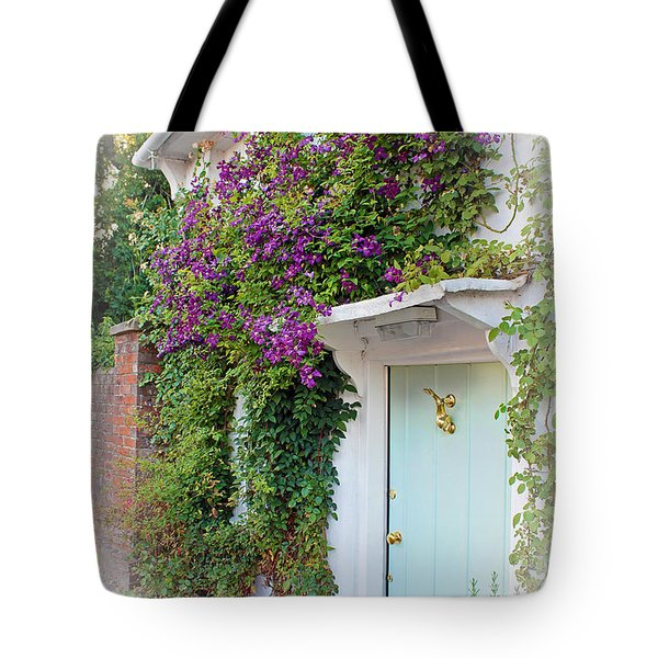 Clematis Around The Door Tote Bag