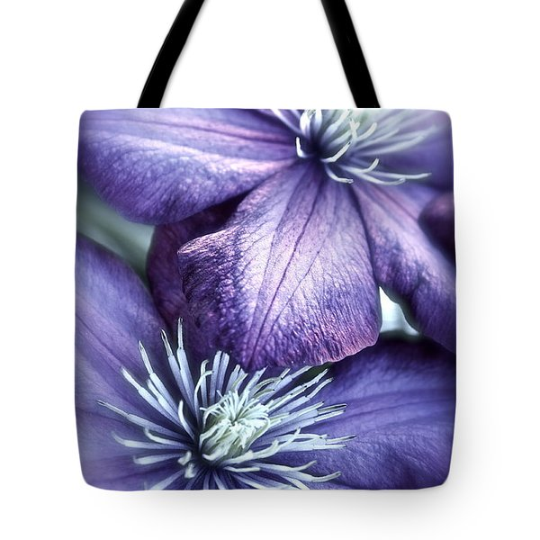 Clematis Tote Bag by Linda Bianic