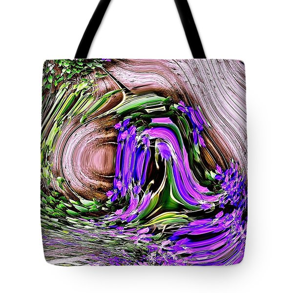 Clematis On A Fence Tote Bag