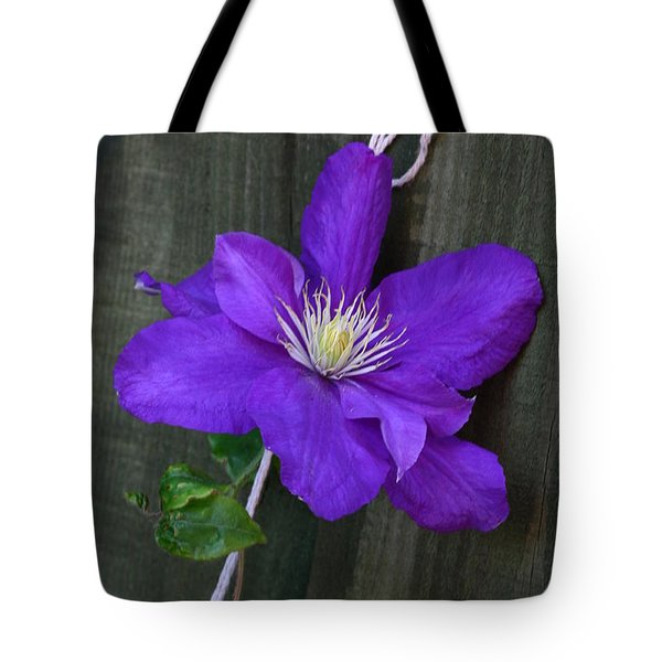 Clematis On A String Tote Bag
