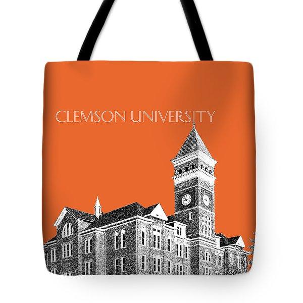 Clemson University - Coral Tote Bag