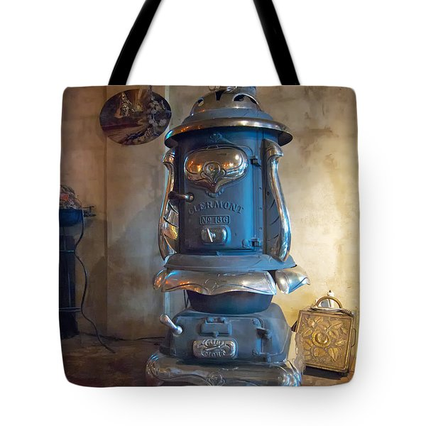 Clermont No 136 Pot Belly Stove Tote Bag