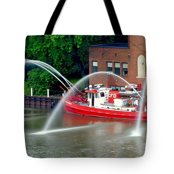 Cleveland Firehouse Tote Bag by Frozen in Time Fine Art Photography