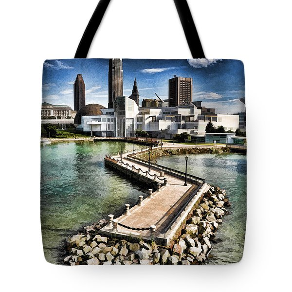 Cleveland Inner Harbor - Cleveland Ohio - 1 Tote Bag