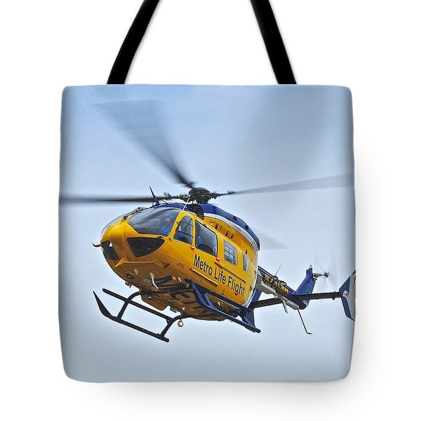 Cleveland Metro Life Flight Tote Bag by Frozen in Time Fine Art Photography
