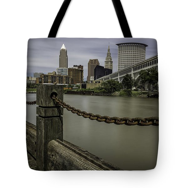 Cleveland Ohio Tote Bag by James Dean