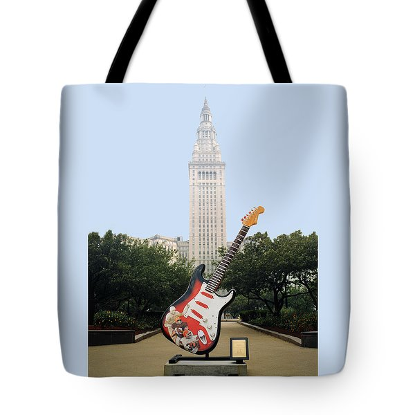 Tote Bag featuring the photograph Cleveland Rocks by Terri Harper