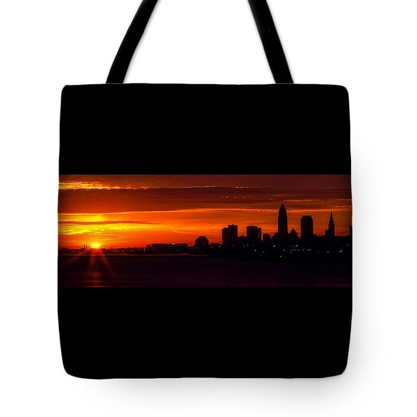 Cleveland Silhouette Tote Bag by Dale Kincaid