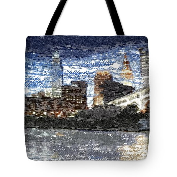 Cleveland Skyline - Typography Tote Bag