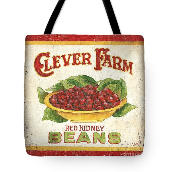 Clever Farms Beans Tote Bag by Debbie DeWitt