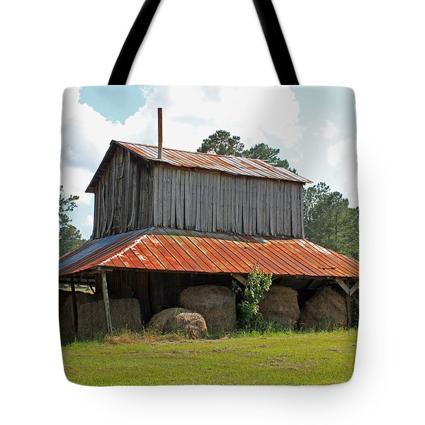 Clewis Family Tobacco Barn Tote Bag by Suzanne Gaff
