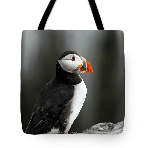 Cliff Top Puffin Tote Bag