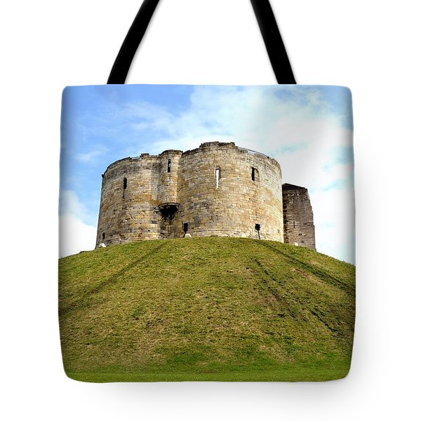 Tote Bag featuring the photograph Clifford's Tower York by Scott Lyons