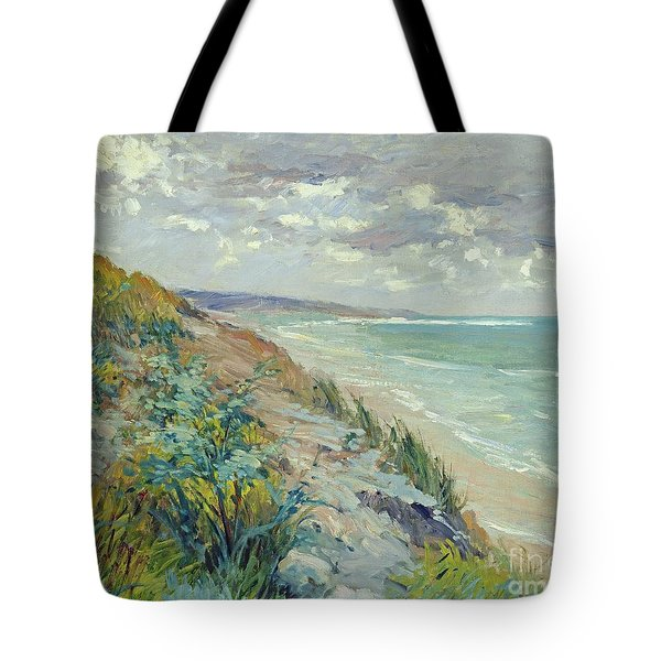 Cliffs By The Sea At Trouville  Tote Bag