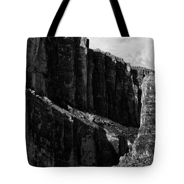 Cliffs In Contrast Tote Bag