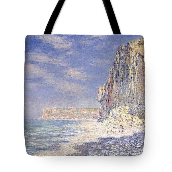Cliffs Near Fecamp Tote Bag by Claude Monet