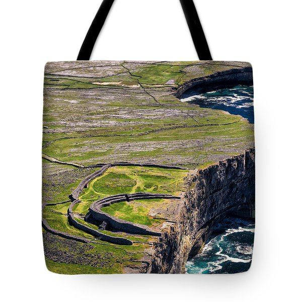 Cliffs Of Inishmoore Tote Bag by Juergen Klust