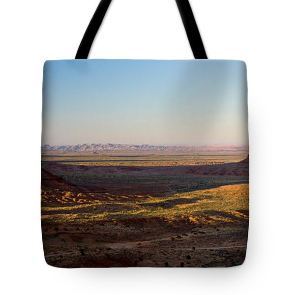 Cliffs On A Landscape, Monument Valley Tote Bag by Panoramic Images