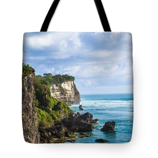 Cliffs On The Indonesian Coastline Tote Bag