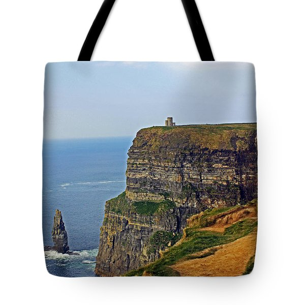 Cliffside Steeple Tote Bag