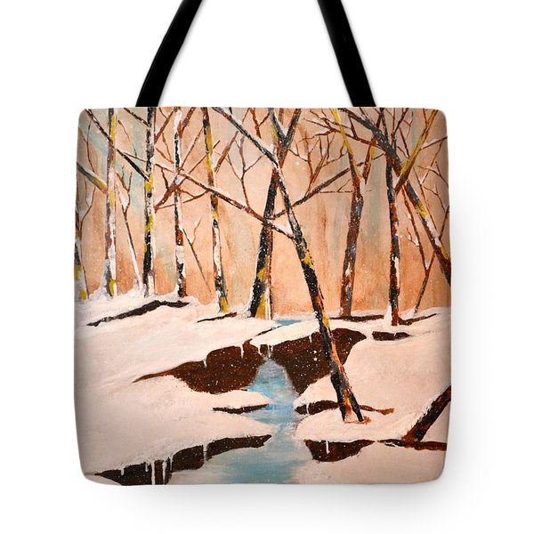 Cliffy Creek Tote Bag by Denise Tomasura