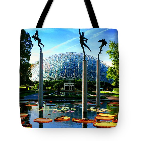 Climatron Geodesic Dome Landscape Tote Bag