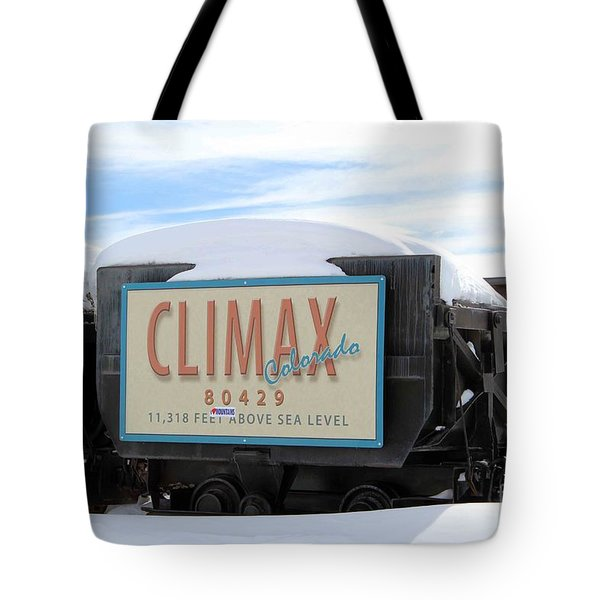 Tote Bag featuring the photograph Climax Colorado by Fiona Kennard