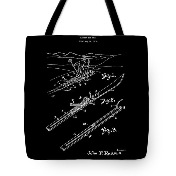 Climber For Skis 1939 Russell Patent Art Tote Bag