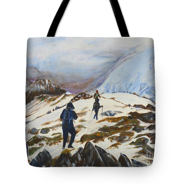 Climbers - Painting Tote Bag by Veronica Rickard