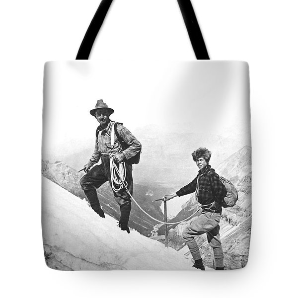 Climbing In The Rockies Tote Bag