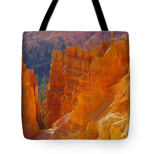 climbing out of the Canyon Tote Bag