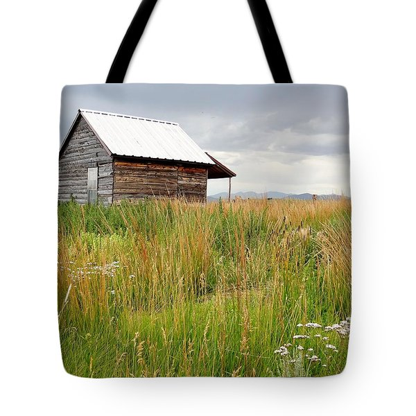 Cline Ranch Outbuilding II Tote Bag by Lanita Williams