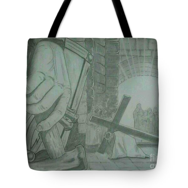 Clinging To The Cross Tote Bag