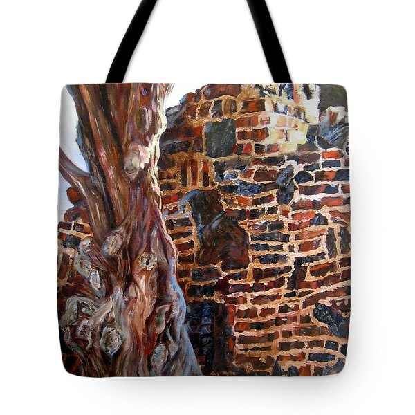 Clinker Wall Tote Bag by LaVonne Hand
