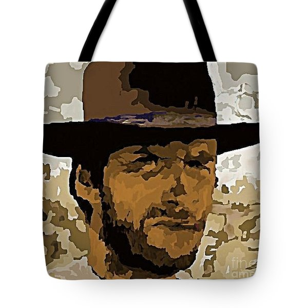 Clint Eastwood Tote Bag by John Malone