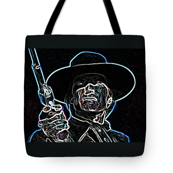 Tote Bag featuring the painting Clint by Hartmut Jager