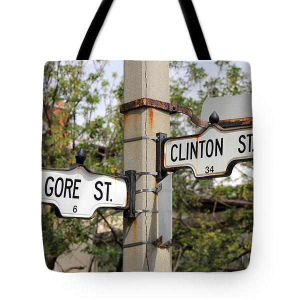 Clinton And Gore Tote Bag by Andrew Fare