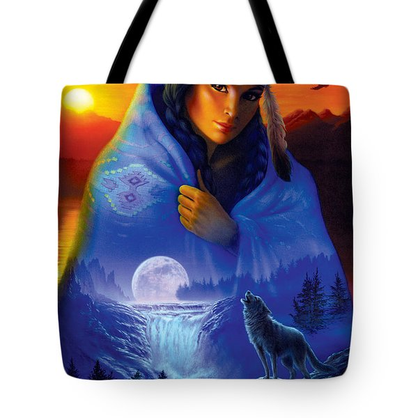 Cloak Of Visions Portrait Tote Bag by Andrew Farley