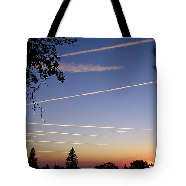 Cloaked Airplanes Tote Bag