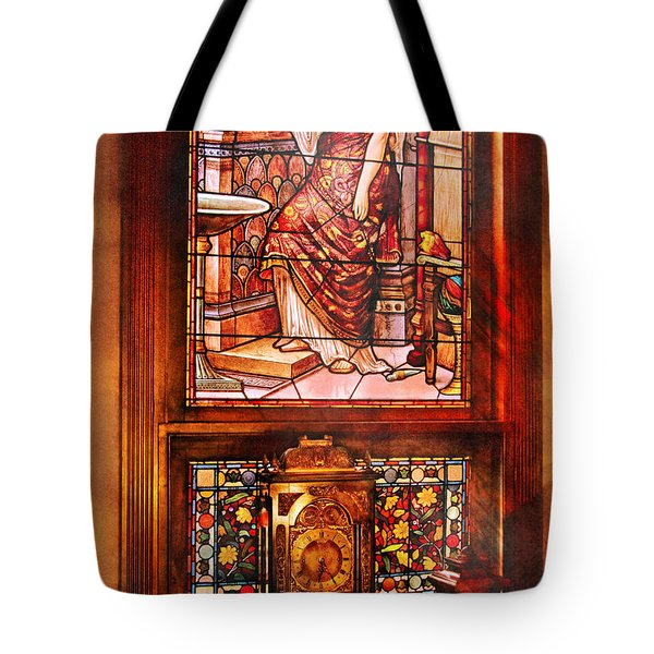 Clockmaker - An Ornate Clock Tote Bag by Mike Savad