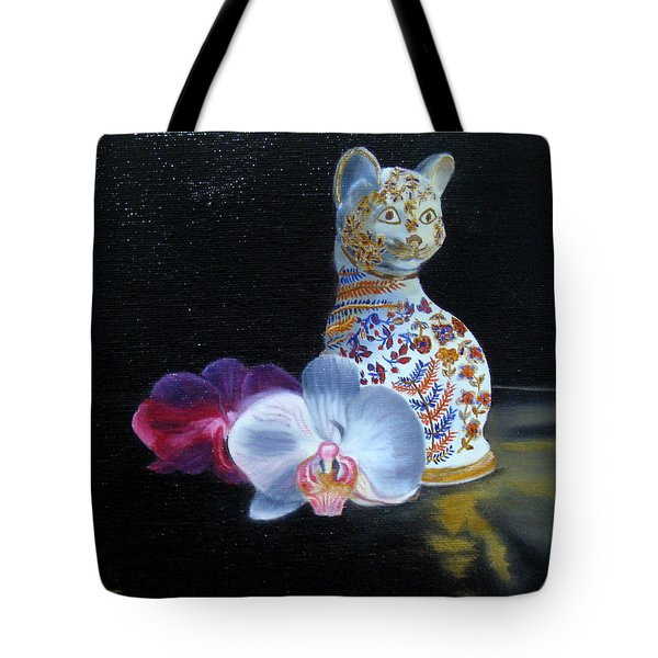 Cloisonne Cat Tote Bag